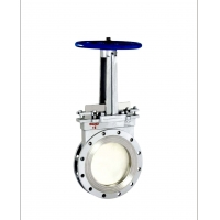 Buy cheap OEM Material Conveying 2'' 0.35MPa Slide Gate Valve product