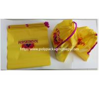 Buy cheap Yellow Color Pvc Custom Plastic Drawstring Bags For Cosmetic / Daily Necessities / Clothes product