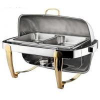 Buy quality Titanium Coating Oblong Chafing Dish Stainless Steel Pot Two 1/2*65mm 706*510*460mm at wholesale prices