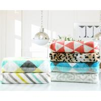 Buy cheap Printed Geometric Flannel Fleece Blanket 200x220cm 220x240cm For Sofa And Chair product