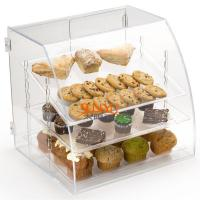 Buy cheap Acrylic Food Display Case Irregular 300pcs with 3 Plastic Trays Curved Front product