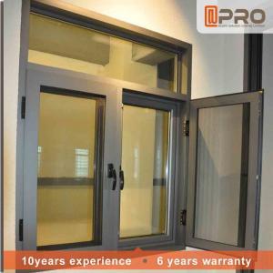 Rainproof Aluminum Casement Windows Thermal Break Aluminium System Design