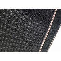 Buy cheap Black Cotton Selvage Jeans Herringbone Denim Fabric W3692 12.1oz With Embroidery product