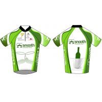 Buy quality Short Sleeve Team Sublimated Cycling Wear / Custom Half Zip Racing Bicycle Jersey at wholesale prices