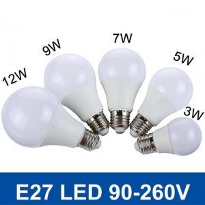 SMD5730 Fast Heat  E27 3W/5W/7W/9W/12W 220V/110V Real Watt Bright Lampada LED Bulb