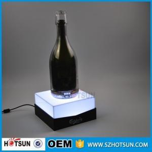 Buy cheap Custom acrylic e liquid display stand LED e liquid bottle rack product