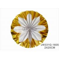 Buy cheap Hot Gold Foil Paper Fan Wedding Decorations With Vibrant Bright Colors product