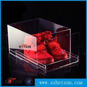 Buy cheap 2016 New design acrylic shoe box/clear shoe box, Custom Shoe Box Manufacturer product