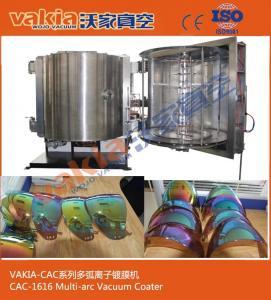 Helmet Visors Vacuum Coating Equipment / Vacuum Plating Metalized Plastic