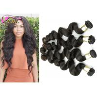 Quality Virgin Cambodian Hair Weft Natural Black Loose Wave Hair From One Young Girl's for sale