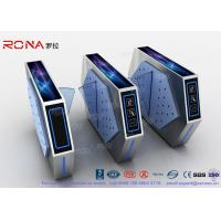Buy cheap 2 Lanes Flap Barrier Turnstile With Ticket Manament System With Light In Cinema product