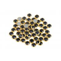 Bright Hotfix Glass Rhinestones , 10mm Decorative Rhinestones With Rim