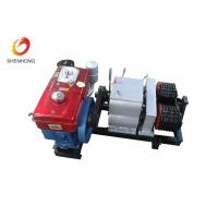 Buy cheap 5T Double Capstan Cable Pulling Winch Machine Puller Hoist , Cable Winch Puller product