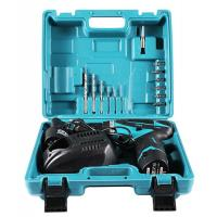 China 12 Volt Power Tools Cordless Drill Tool Set 16 Piece Accesseries Fast Charger on sale