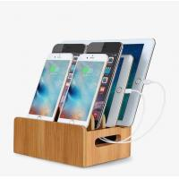 Buy cheap Cable Management Wooden Phone Charging Station Bamboo Box Holder product