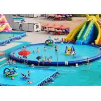 Buy cheap UV Resistance Commercial Inflatable Water Parks With Swimming Pool from wholesalers