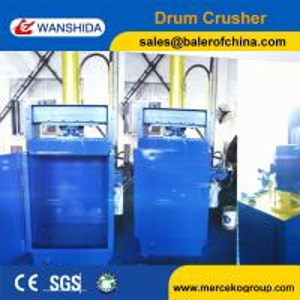 Drum Compactor Waste Oil Drum Baling Press Baler Drum Crusher