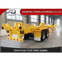 Buy cheap FUWA Axles 40ft skeletal chassis container trailer 40 tonnes port trucks terminal trailers product