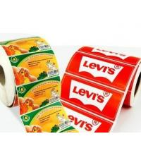 Buy cheap OEM Glossy Food Product Sticker / Label Roll Waterproof With Logo Printing product