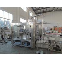 Buy cheap Beverage Hot Filling Machine 3 In 1 Monoblock Rotary Filling Machines product
