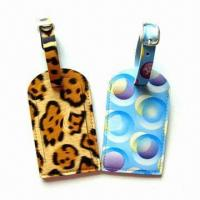Buy cheap Personal Decoration Luggage Tags with Nominal Quotation, Made of Plastic product