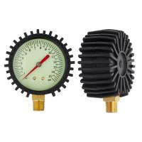 Buy cheap 63mm Bottom car tyre air pressure gauges with black rubber , dry pressure gauge product
