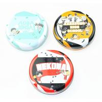 Buy cheap Dia 35 - 45mm Round Metal Tin Containers For School Kids / Holiday Gift Packing from wholesalers