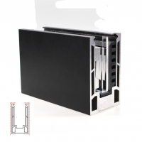 Buy cheap 6m U Channel 6063 Aluminum Extrusion Framing , Balcony Glass Door Metal Frame product