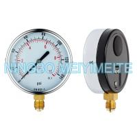 Buy cheap 100mm Bottom Type General Pressure Gauge Black Steel Case With Chrome Bezel product