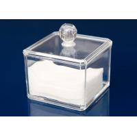 Transparent Plastic Display Stand Cube Box For Makeup With Lid