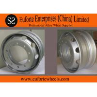 Buy quality 17.5x5.25  17.5x6.00  17.5x6.75   Steel Truck Wheel Rim Tubeless, Silver Machined Polished at wholesale prices