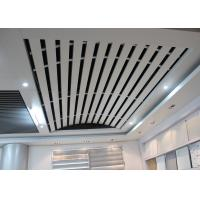 Buy quality Domed Linear metal ceiling Aluminum Install with Curved Keel , Curved Ceiling for Station at wholesale prices
