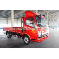 Buy cheap 120hp HOWO Cargo Light Duty Commercial Trucks , Red Fire product