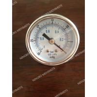 """Buy cheap Tempered Glass Window Vacuum Pressure Gauge SS 1/4"""" NPT Back Mount -30HG/0 BAR product"""