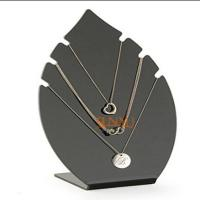 Buy cheap Black 5mm Acrylic Jewelry Display Stands Leaf Shaped For Necklaces product
