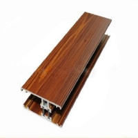 Buy cheap Extrusion Aluminum Window Profiles Wood Effect Powder Coatings product