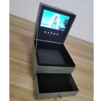 Buy cheap Pu leather video player box with screen display,boot logo ,lcd video box with gb from wholesalers