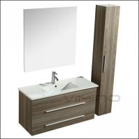 Quality Contempoary Bathroom Vanity PVC Melamine Bathroom Cabinet Furniture 7023-100A for sale