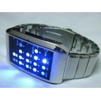 Trendy Design BINARY Digital Watch Blue LED Black Strap Manufactures