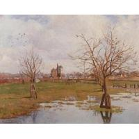 Impressionist(3830) Landscape_with_Flooded_Fields