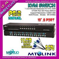Buy quality KVM Switch Manual PS/2 or USB 2-16port MT-KVM8A at wholesale prices