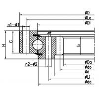Buy cheap Four point contact ball slewing bearing (internal gear type) product