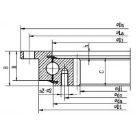 Buy cheap Four point contact ball slewing bearing (with outer flange and internal gear type) product