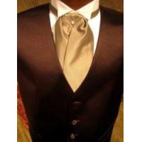 """Buy cheap Satin Tuxedo Vest - Chocolate Brown with """"Solid Fusion"""" Champagne Ascot product"""