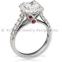 Buy quality Vintage Deco Cathedral Engagement Ring at wholesale prices