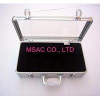 Personalized Silver Aluminum Watch Case / Watch Boxes , Acrylic Watch Cases