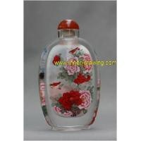China Wealth Map inside painted snuff bottle on sale