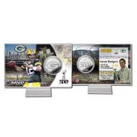 Aaron Rodgers Super Bowl 45 MVP Silver Coin Card