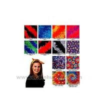 Buy cheap Tie dye bandanna with wax printing multi color design. product