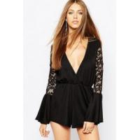 Buy cheap Fashion Women's V-Neck Lace Patchwork Romper product
